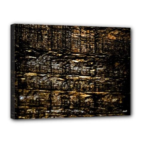 Wood Texture Dark Background Pattern Canvas 16  x 12