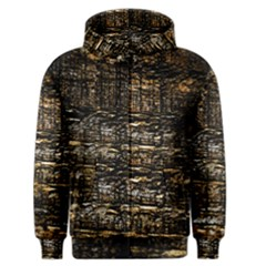 Wood Texture Dark Background Pattern Men s Zipper Hoodie