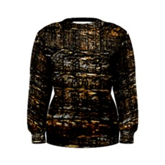Wood Texture Dark Background Pattern Women s Sweatshirt