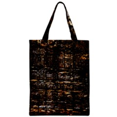 Wood Texture Dark Background Pattern Zipper Classic Tote Bag