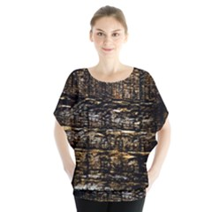 Wood Texture Dark Background Pattern Blouse