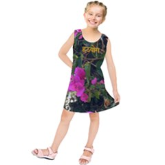 Hatha Yoga On Flowers Kids  Tunic Dress