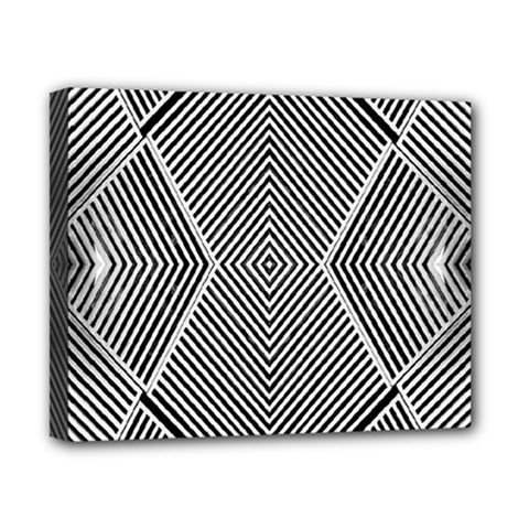 Black And White Line Abstract Canvas 10  x 8