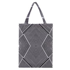 Black And White Line Abstract Classic Tote Bag