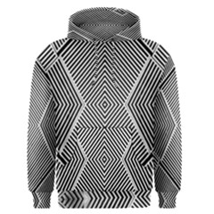 Black And White Line Abstract Men s Pullover Hoodie