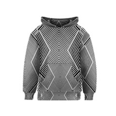 Black And White Line Abstract Kids  Pullover Hoodie