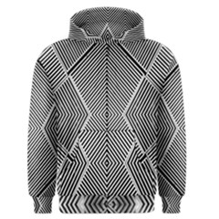 Black And White Line Abstract Men s Zipper Hoodie