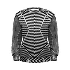 Black And White Line Abstract Women s Sweatshirt