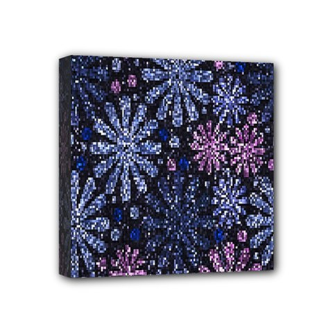 Pixel Pattern Colorful And Glittering Pixelated Mini Canvas 4  x 4