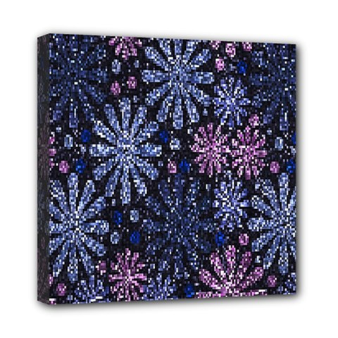Pixel Pattern Colorful And Glittering Pixelated Mini Canvas 8  x 8