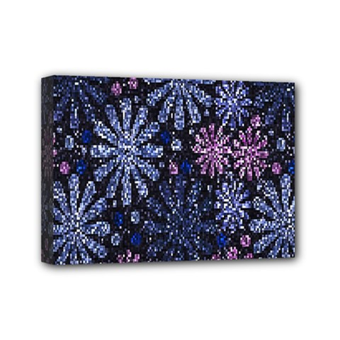 Pixel Pattern Colorful And Glittering Pixelated Mini Canvas 7  x 5