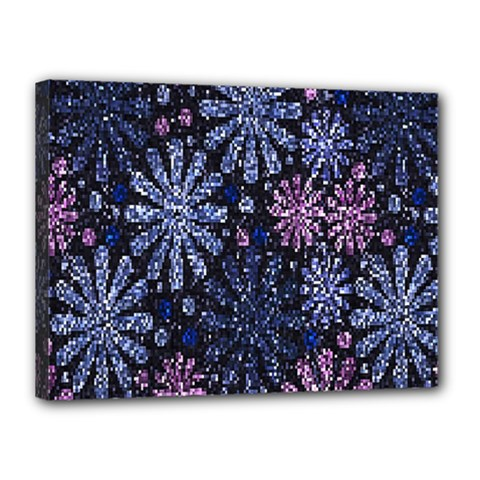 Pixel Pattern Colorful And Glittering Pixelated Canvas 16  x 12