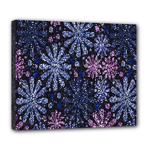 Pixel Pattern Colorful And Glittering Pixelated Deluxe Canvas 24  x 20