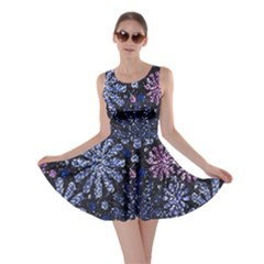 Pixel Pattern Colorful And Glittering Pixelated Skater Dress