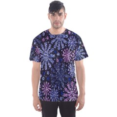 Pixel Pattern Colorful And Glittering Pixelated Men s Sport Mesh Tee