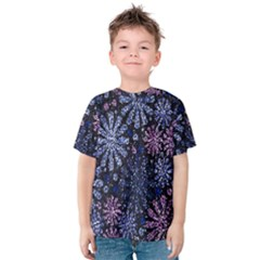 Pixel Pattern Colorful And Glittering Pixelated Kids  Cotton Tee