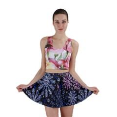 Pixel Pattern Colorful And Glittering Pixelated Mini Skirt