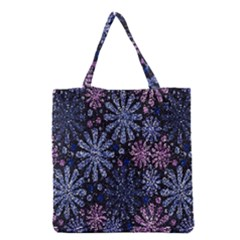 Pixel Pattern Colorful And Glittering Pixelated Grocery Tote Bag