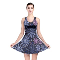 Pixel Pattern Colorful And Glittering Pixelated Reversible Skater Dress