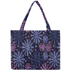 Pixel Pattern Colorful And Glittering Pixelated Mini Tote Bag