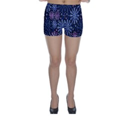 Pixel Pattern Colorful And Glittering Pixelated Skinny Shorts