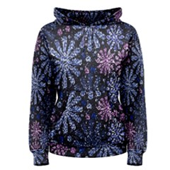 Pixel Pattern Colorful And Glittering Pixelated Women s Pullover Hoodie