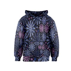 Pixel Pattern Colorful And Glittering Pixelated Kids  Zipper Hoodie