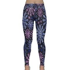 Pixel Pattern Colorful And Glittering Pixelated Classic Yoga Leggings