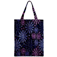Pixel Pattern Colorful And Glittering Pixelated Zipper Classic Tote Bag
