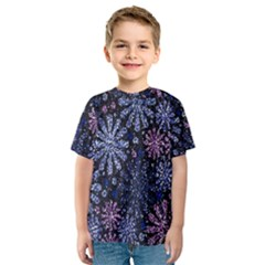 Pixel Pattern Colorful And Glittering Pixelated Kids  Sport Mesh Tee