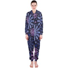 Pixel Pattern Colorful And Glittering Pixelated Hooded Jumpsuit (Ladies)