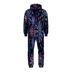 Pixel Pattern Colorful And Glittering Pixelated Hooded Jumpsuit (Kids)