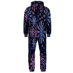 Pixel Pattern Colorful And Glittering Pixelated Hooded Jumpsuit (men)