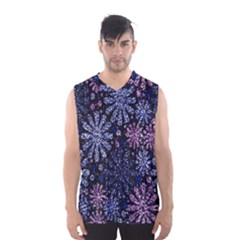 Pixel Pattern Colorful And Glittering Pixelated Men s Basketball Tank Top