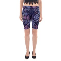 Pixel Pattern Colorful And Glittering Pixelated Yoga Cropped Leggings