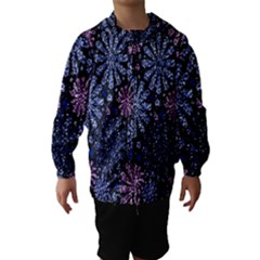 Pixel Pattern Colorful And Glittering Pixelated Hooded Wind Breaker (kids)