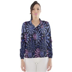 Pixel Pattern Colorful And Glittering Pixelated Wind Breaker (Women)