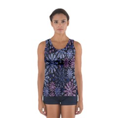 Pixel Pattern Colorful And Glittering Pixelated Women s Sport Tank Top