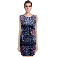 Pixel Pattern Colorful And Glittering Pixelated Classic Sleeveless Midi Dress