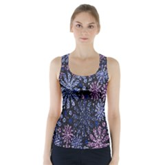 Pixel Pattern Colorful And Glittering Pixelated Racer Back Sports Top