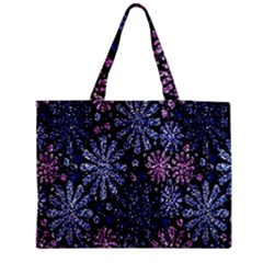 Pixel Pattern Colorful And Glittering Pixelated Medium Tote Bag