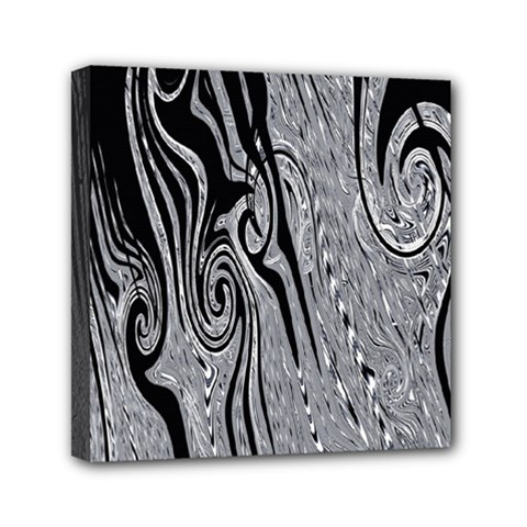 Abstract Swirling Pattern Background Wallpaper Mini Canvas 6  x 6