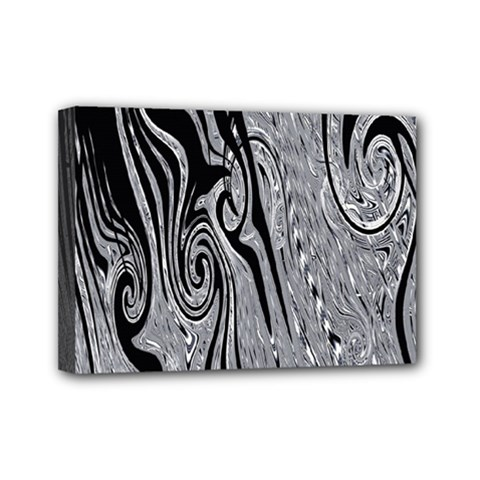 Abstract Swirling Pattern Background Wallpaper Mini Canvas 7  x 5