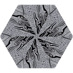 Abstract Swirling Pattern Background Wallpaper Mini Folding Umbrellas