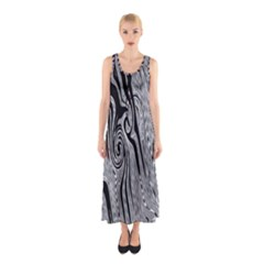 Abstract Swirling Pattern Background Wallpaper Sleeveless Maxi Dress