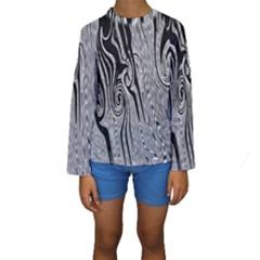 Abstract Swirling Pattern Background Wallpaper Kids  Long Sleeve Swimwear