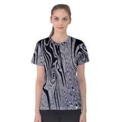 Abstract Swirling Pattern Background Wallpaper Women s Cotton Tee