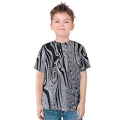 Abstract Swirling Pattern Background Wallpaper Kids  Cotton Tee