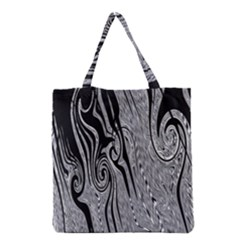 Abstract Swirling Pattern Background Wallpaper Grocery Tote Bag