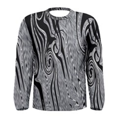 Abstract Swirling Pattern Background Wallpaper Men s Long Sleeve Tee